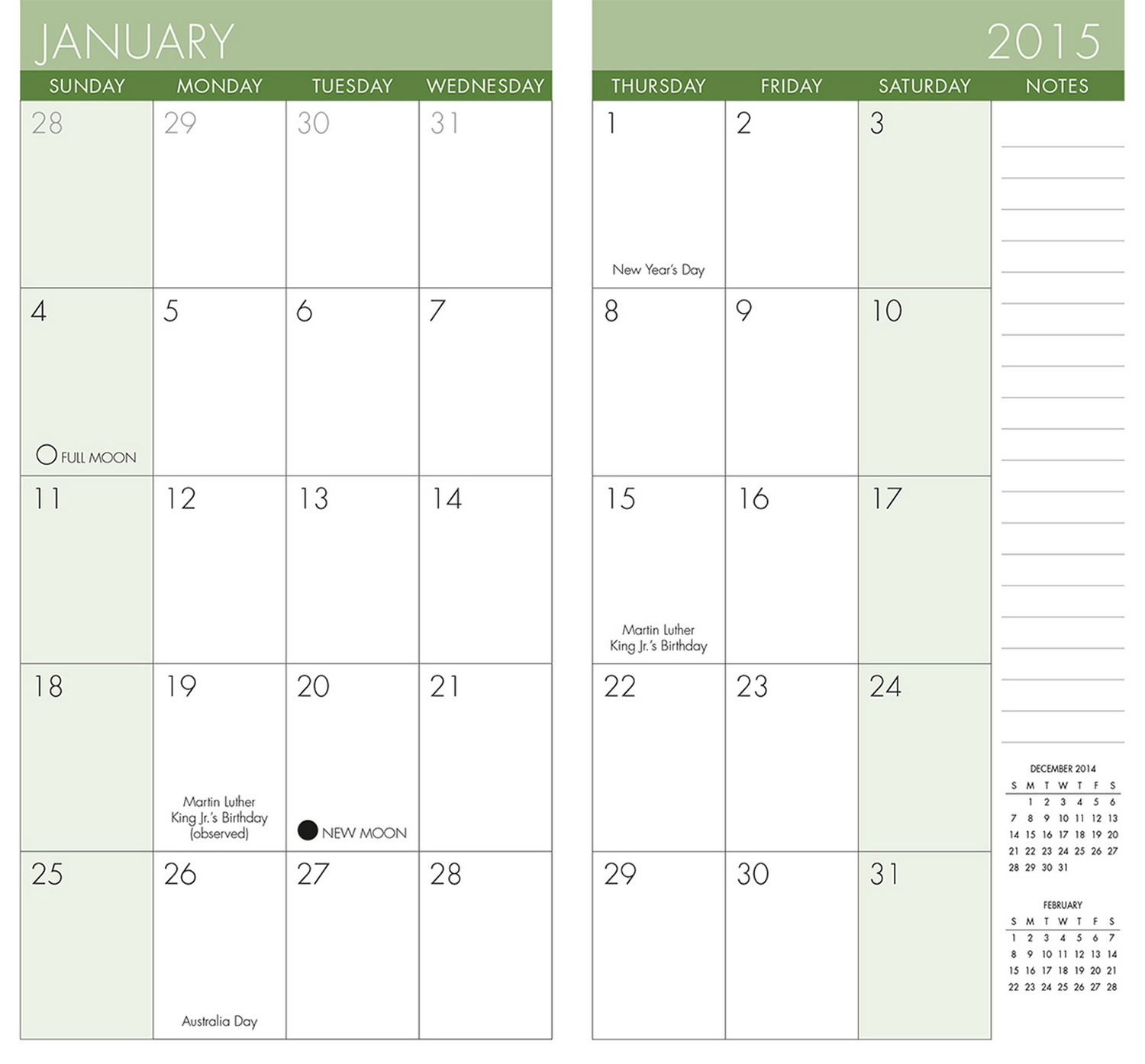 Printable Pocket Calendar | Printable Calendar 2016