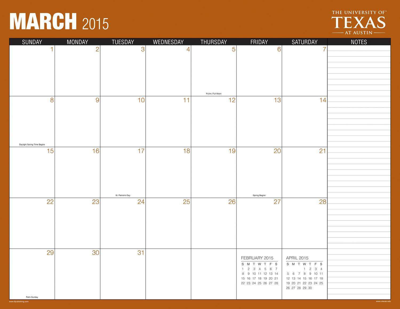 Blank Calendar Desk Pad : Desk pad calendars template calendar austin texas