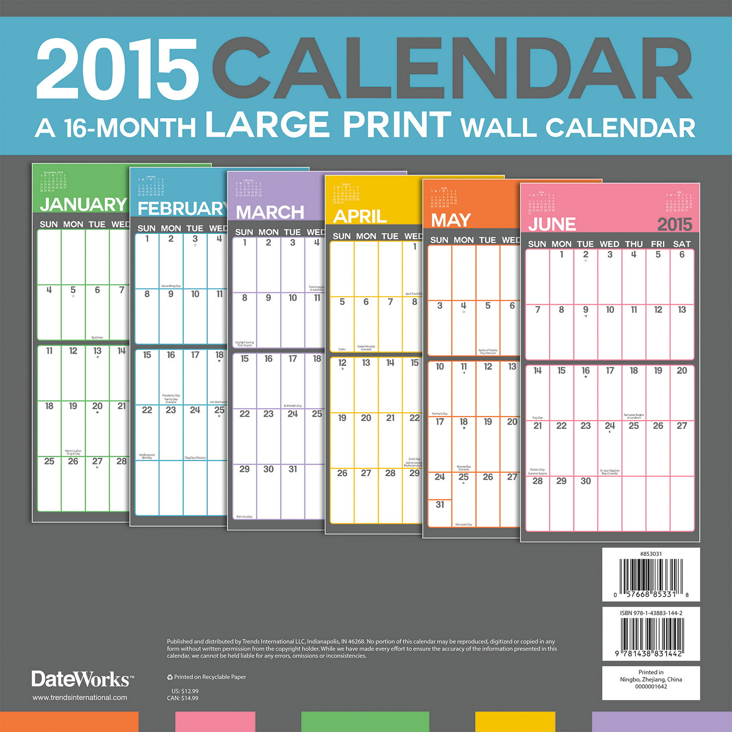 """Calendar Large : Search results for """"giant wall calendar"""